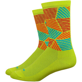 "DeFeet Aireator 6"" Chaussettes, craze/sulpher springs/hi-vis yellow/red/orange"